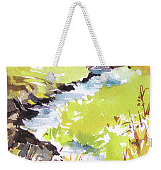 Weekender Tote Bag featuring the painting Marshland by Rae Andrews