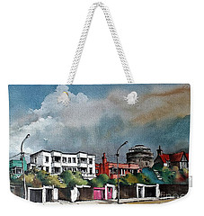Martello Tower Bray Wicklow Weekender Tote Bag by Val Byrne