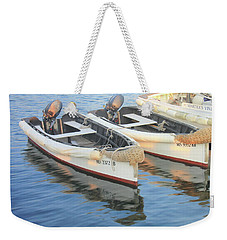 Weekender Tote Bag featuring the photograph Martha's Vinyard Skiffs by Roupen  Baker