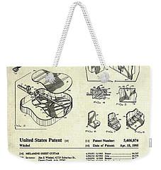 Martin Guitar Patent Art Weekender Tote Bag by Gary Bodnar