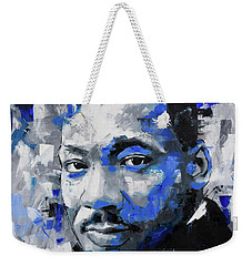 Weekender Tote Bag featuring the painting Martin Luther King Jr by Richard Day