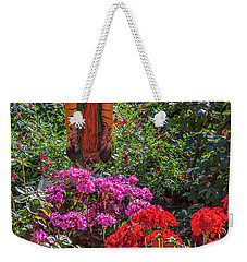 Mary Among The Roses Weekender Tote Bag by David Cote