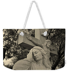 Mary Magdalene At The Crucifixion Weekender Tote Bag by Nature Macabre Photography