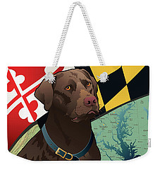 Maryland Chocolate Lab Weekender Tote Bag
