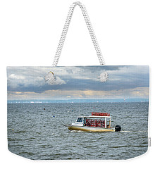 Maryland Crab Boat Fishing On The Chesapeake Bay Weekender Tote Bag