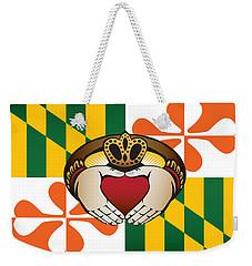 Maryland Irish Claddagh Art Weekender Tote Bag