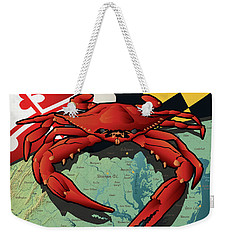 Maryland Red Crab Weekender Tote Bag