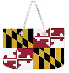 Maryland State Flag Weekender Tote Bag