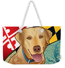 Maryland Yellow Lab Weekender Tote Bag