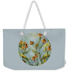 Weekender Tote Bag featuring the painting Mary's Garden by Mary Wolf