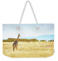 Masai Giraffe Walking In Kenya Africa Weekender Tote Bag