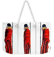 Masai Warrior Triptych - Original Artwork Weekender Tote Bag