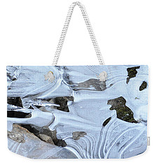 Weekender Tote Bag featuring the photograph Ice Mask Abstract by Glenn Gordon