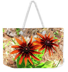 Weekender Tote Bag featuring the photograph Masked by Larry Bishop