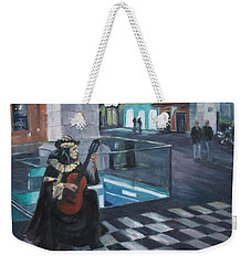 Masked Musician Weekender Tote Bag by Connie Schaertl