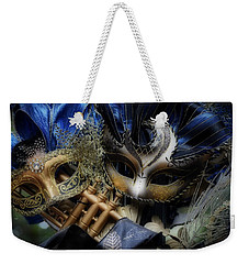 Masked Twins Weekender Tote Bag by Amanda Eberly-Kudamik