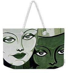 Masks Verde Weekender Tote Bag