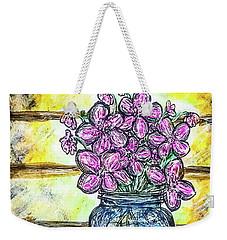 Mason Jar Bouquet Weekender Tote Bag