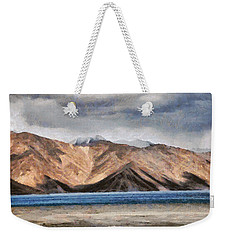 Massive Mountains And A Beautiful Lake Weekender Tote Bag