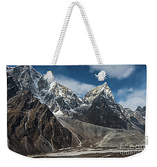 Weekender Tote Bag featuring the photograph Massive Tabuche Peak Nepal by Mike Reid