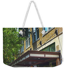 Weekender Tote Bag featuring the photograph Mast General by Skip Willits