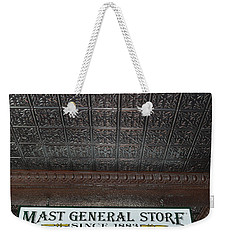 Weekender Tote Bag featuring the photograph Mast General Store II by Skip Willits