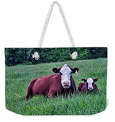 Weekender Tote Bag featuring the photograph Matched Set by Cricket Hackmann