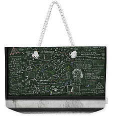 Maths Formula On Chalkboard Weekender Tote Bag by Setsiri Silapasuwanchai