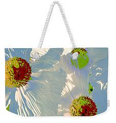 Matilija Poppies Pop Art Weekender Tote Bag by Ben and Raisa Gertsberg