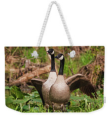 Mating Pair Guarding The Nest Weekender Tote Bag
