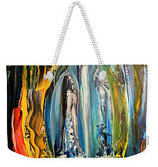 Weekender Tote Bag featuring the painting Matrimony  by Kicking Bear  Productions