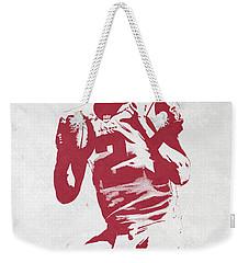Matt Ryan Atlanta Falcons Pixel Art 2 Weekender Tote Bag by Joe Hamilton