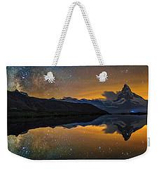 Matterhorn Milky Way Reflection Weekender Tote Bag