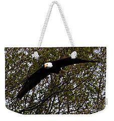 Mature Bald Eagle Weekender Tote Bag