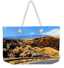 Weekender Tote Bag featuring the photograph Maui Manawainui Gulch by Michael Rucker