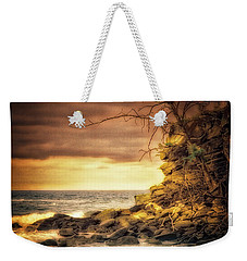 Weekender Tote Bag featuring the photograph Maui Ocean Point by Chuck Caramella