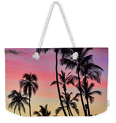 Maui Palm Tree Silhouettes Weekender Tote Bag