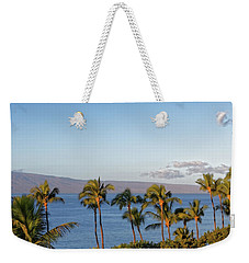 Weekender Tote Bag featuring the photograph Maui Palms by Lars Lentz