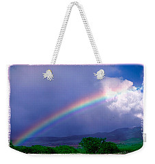Weekender Tote Bag featuring the photograph Maui Rainbow by Marie Hicks