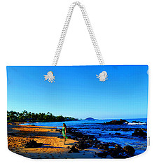 Weekender Tote Bag featuring the photograph Maui Sunrise On The Beach by Michael Rucker