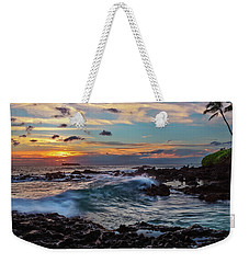 Weekender Tote Bag featuring the photograph Maui Sunset At Secret Beach by John Hight