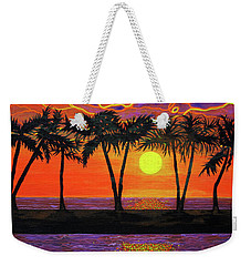 Maui Sunset Palm Trees Weekender Tote Bag