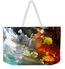 Weekender Tote Bag featuring the painting Maui Surf by Fred Wilson