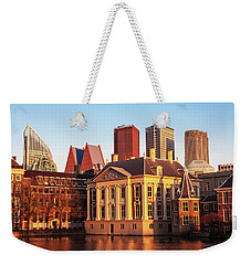 Weekender Tote Bag featuring the photograph Mauritshuis At Golden Hour - The Hague by Barry O Carroll