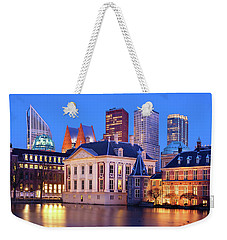 Weekender Tote Bag featuring the photograph Mauritshuis Museum At Blue Hour by Barry O Carroll
