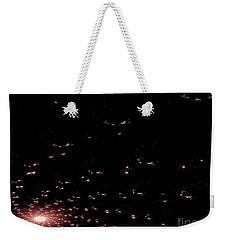 Mauve Spiral Nebula Weekender Tote Bag