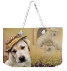 Maverick And Tori - Labrador Art Weekender Tote Bag