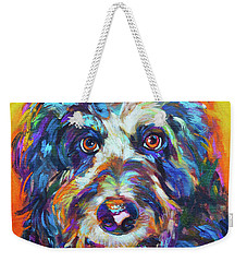 Max, The Aussiedoodle Weekender Tote Bag by Robert Phelps