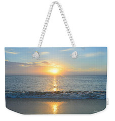 Weekender Tote Bag featuring the photograph May 23 Sunrise by Barbara Ann Bell