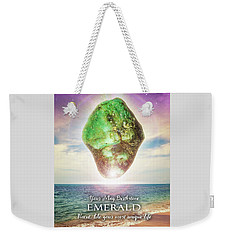 May Birthstone Emerald Weekender Tote Bag